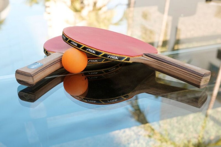 Enjoy A Game Of Ping Pong On Our Outdoor Glass Table 13 of 14