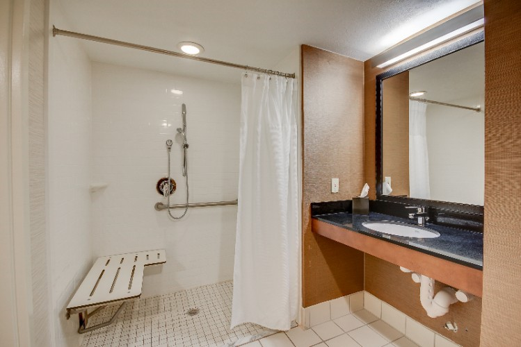 Accessible Roll In Shower In Single Queen Bedroom 15 of 15