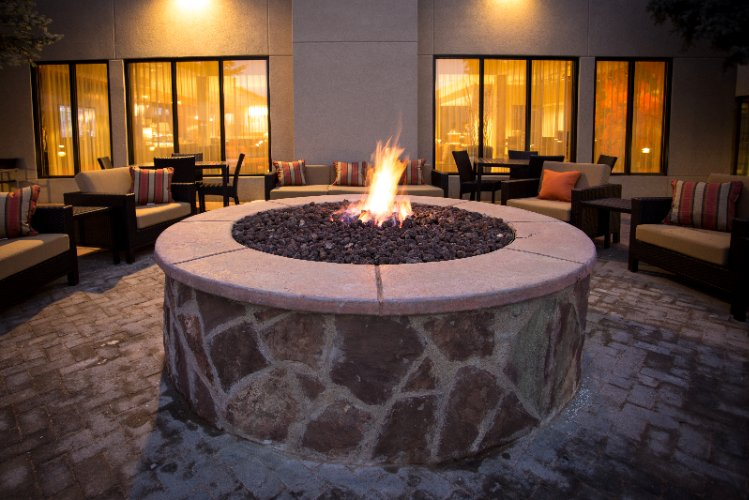Fire Pit In Secluded Courtyard 10 of 10