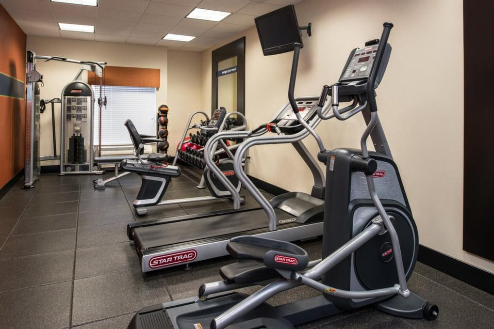 Maintain Your Healthy Lifestyle With Our Cardio Equipment And Free Weights In Our On Site Fitness Center. 8 of 14