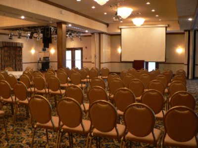 Ballroom With Theater Seating And Screen And Lcd Projector -Caribbean Room 8 of 9