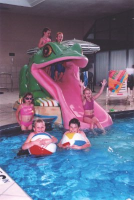 Indoor Pool With Fun Frog Slide 5 of 11