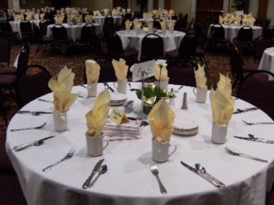 Yellow Napkins Table Setting -Main Banquet Room 15 of 28