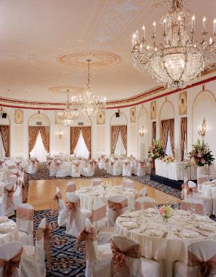 Crystal Ballroom Set For A Wedding Reception 8 of 20