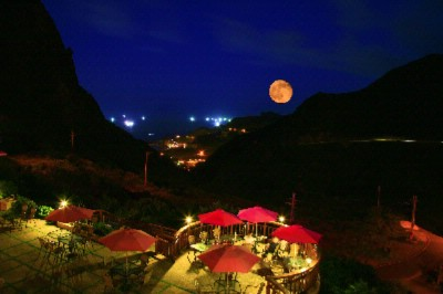 At The Villa You Could Appreciate The Arising Moon The Big And Red Moon Is Arising From The Sea Level At The Night. 4 of 31