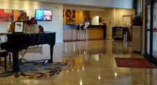 Finished Lobby With Furniture Moved Along The Walls And A Baby Grand Piano In The Middle 21 of 24