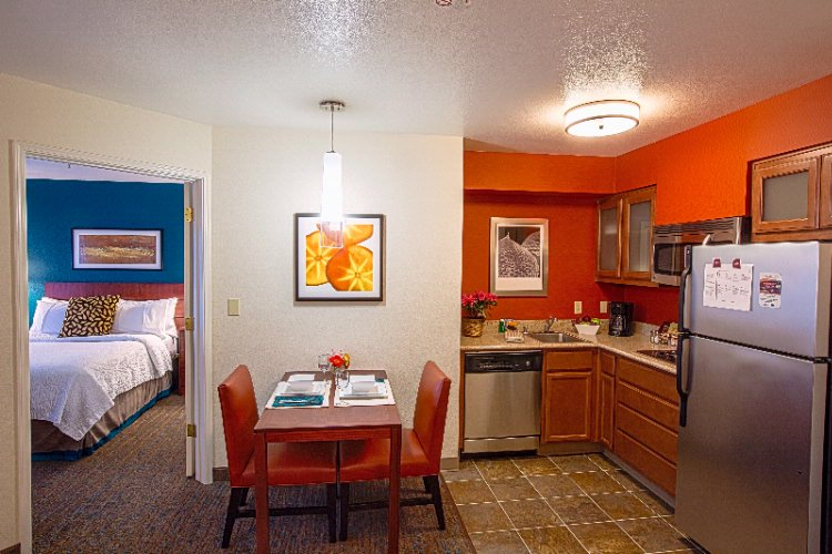 Each Suite In Our Hotel Is Equipped With A Full Kitchenette As Seen In This One-Bedroom Suite. 3 of 5