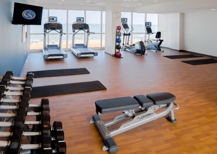 Unwind In Our Brand New Fitness Center With State Of The Art Equipment Overlooking The Atlantic Ocean & Virginia Beach Boardwalk 14 of 20