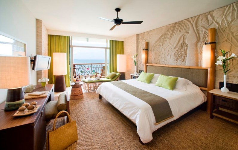 Deluxe Ocean Facing Rooms Are Equipped With One King Beds Thus Sleeping Up To 3 Adults Or 2 Adults And 1 Child And Include A Bathroom With Shower Total Living Space 42 Square Metres 2 of 3
