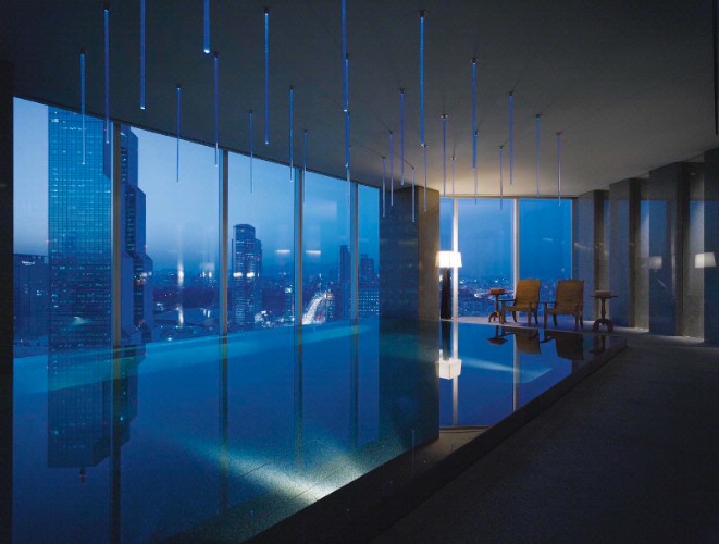 Indoor Swimming Pool With Nightview 7 of 10