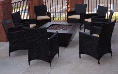 Outdoor Seating Area With Gaslit Fireplace 10 of 14