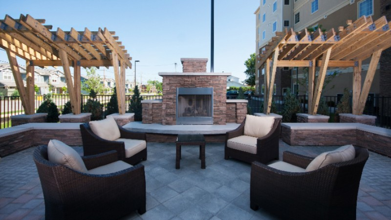 Outdoor Living Room With Fireplace 7 of 14