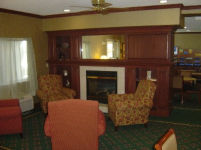 Relax In Our Lobby With A Gas Fireplace 5 of 6