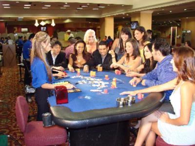 Roulette game in a casino