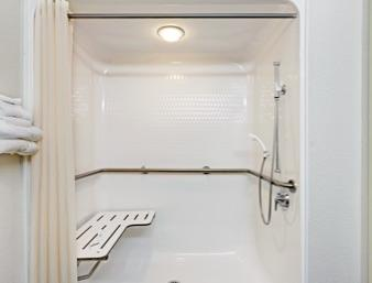 Roll In Shower In The 1 Queen Accessible 6 of 14