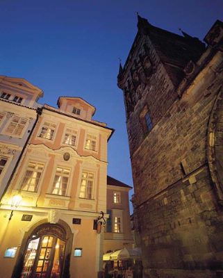 Hotel Exterior With Charles Bridge Gothic Tower 3 of 12