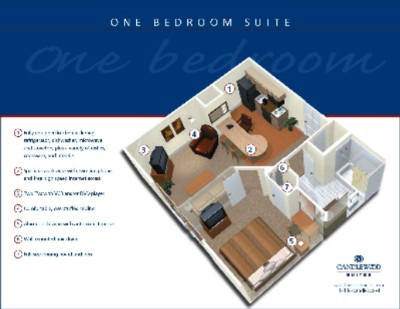 One Bedroom Suite 4 of 9