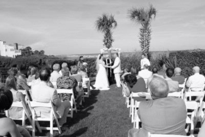 Ocean Front Lawn Wedding Ceremony 9 of 10