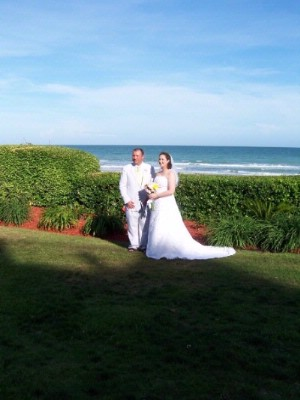 Wedding Photos On Ocean Front Lawn 10 of 10