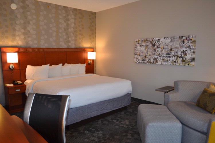 Guest Rooms Feature The Comfort Of Marriott Luxury Bedding In-Room Coffee And Tea Iron Ironing Board Hairdryer And Loveseat. For Business Travelers There Is Complimentary High-Speed Internet Access A Large Work Desk And Ergonomic Desk Chair. 2 of 11