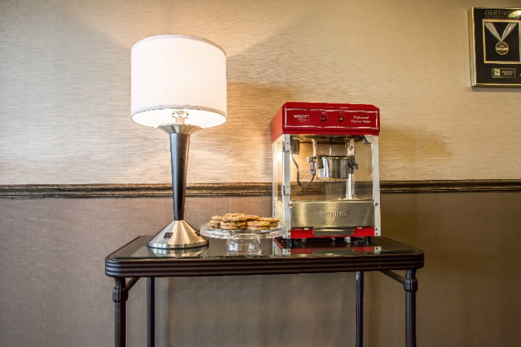 Complimentary Fresh Baked Cookies And Pop Corn Everyday In The Afternoon-Perfect To Match With Our 24/7 Self Service Coffee Tea And Hot Chocolate Station Located In Breakfast Area 8 of 31
