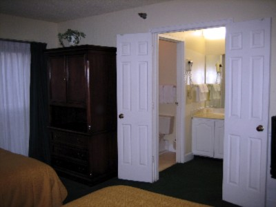 French Doors Lead To Sink Area And Bathroom Allowing Multiple Guests To Get Ready In The Morning More Efficiently. 7 of 11