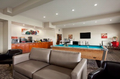 Great Room With Pool Table Darts And Wii Video Game Console. 9 of 11