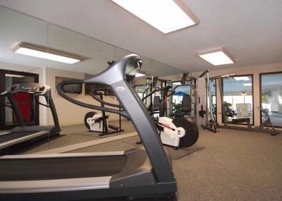 Exercise Room With Cardio Equipment And Weights 9 of 10