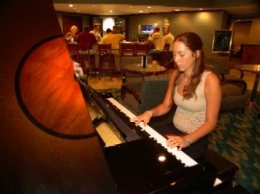 Clarion Hotel Baby Grand Piano 8 of 11