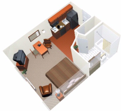 Layout Of The Studio Suite 4 of 9