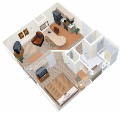 Layout Of The Onebedroom Suite 5 of 9