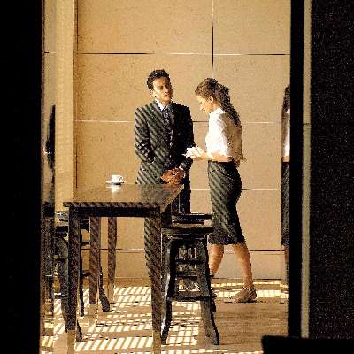 Couple During A Coffee Break At Cafe Mezzo In Hotel Intercontinental Geneve 28 of 31