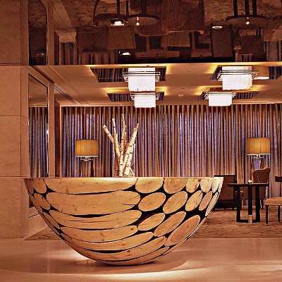 Wooden Table In The Lobby Of Intercontinental Geneva 5 of 31