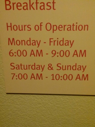 Breakfast Hours Of Operation 25 of 25