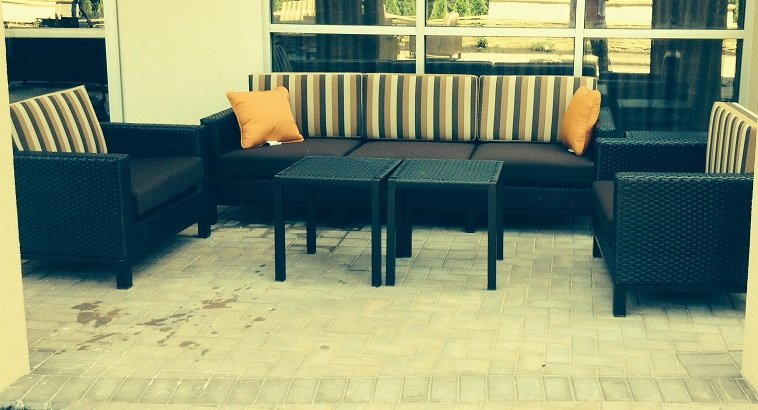 Seating By Our Courtyard Area Overlooking Poquessing Valley Park 4 of 13