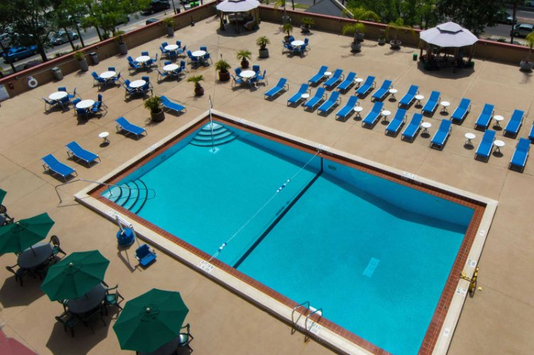 Gainesville\'s Only Unique Rooftop Pool Deck 6 of 8