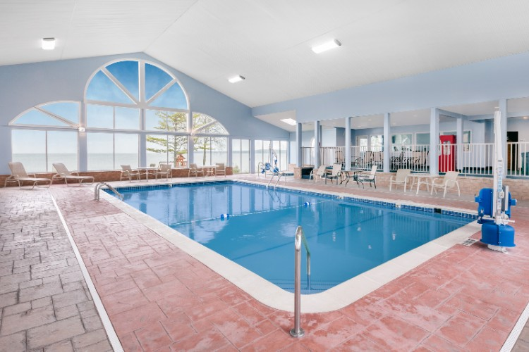 Indoor Pool And Hot Tub With Lakefront Views 6 of 13