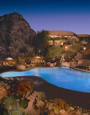 Spectacular Night View Of The Buttes Pool Area! 4 of 16