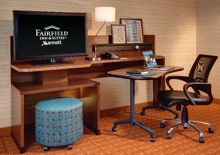 Fairfield Inn & Suites Gen 4 Guest Room Desk Setup 7 of 8