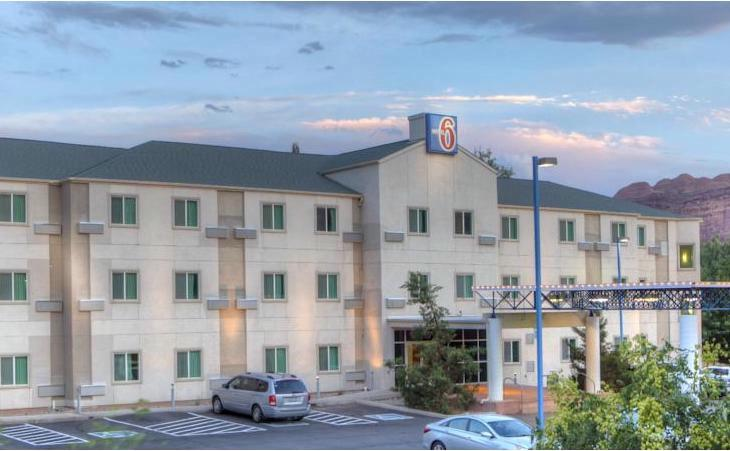 Map Attractions For Motel 6 Moab