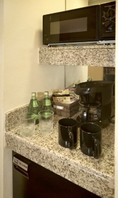 Mini Fridge Coffe Makers And Microwave In Each Suite 6 of 10