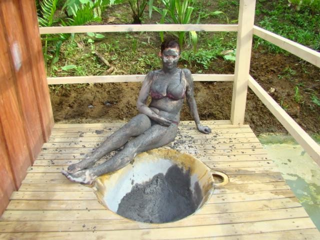 Taking A Natural Mud Bath & Sauna 9 of 16
