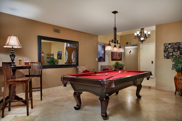 Living Area With Pool Table 6 of 16