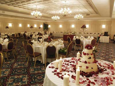 Comfort Suites Bethlehem Ballroom Set For Wedding