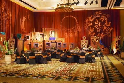 Tribal Elegance At Tamaya Ballroom 4 of 16