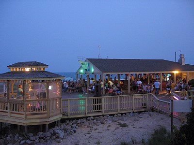 The Quarterdeck Ocean Front Cabana Bar & Grill At Night 4 of 12
