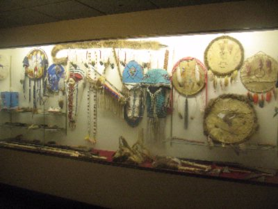 Display Case With Authentic Native American Artifacts 3 of 9