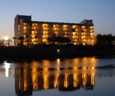 Hotel Exterior Night From Waterway 3 of 31