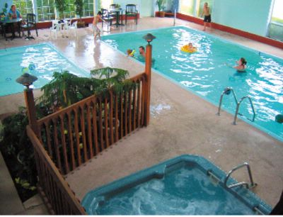 Enjoy A Relaxing Dip In The 24-hour Indoor Pool! 2 of 7