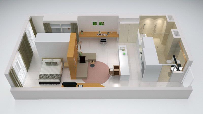 One Bedroom Suite -65sqm -Floorplan 14 of 23